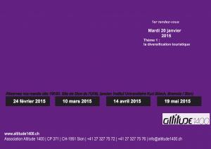 Save the date: Altitude1400 ouvre la réflexion sur le tourisme valaisan